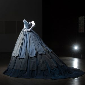 1 Blue Gown