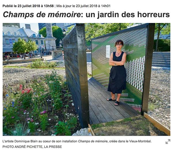 La-Presse-Champs de mémoire
