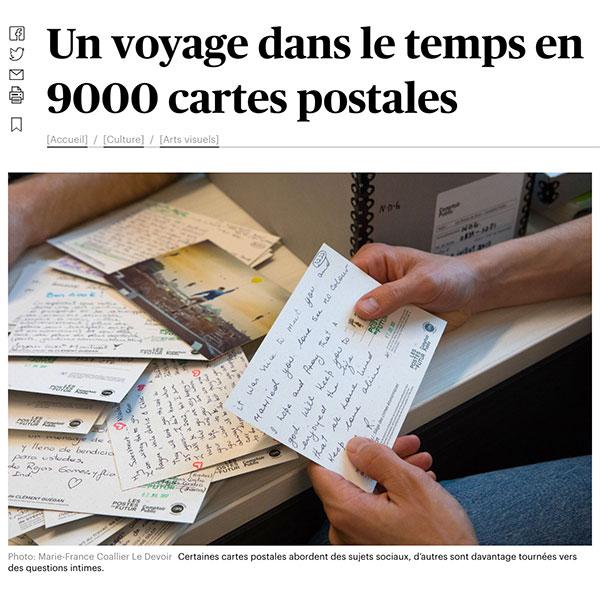 Le Devoir-Un voyage dans le temps en 9000 cartes postales