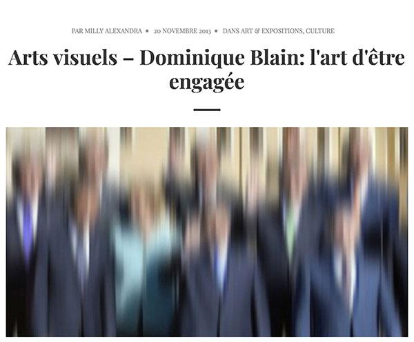 Querelles-Dominique Blain-L'art d'être engagée