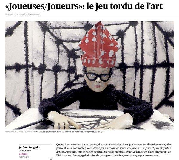 Le Devoir 2019-Le jeu tordu de l'art