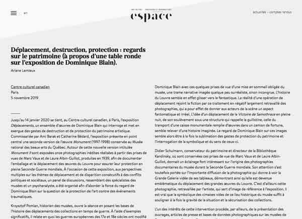 Espace Art Actuel 2019